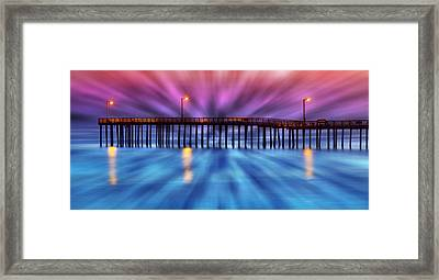 Cayucos Pier Framed Print by Robert Jensen