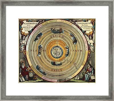 Cellarius, Andreas 1596-1665. Atlas Framed Print by Everett