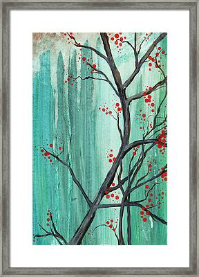 Cherry Tree  Framed Print by Carrie Jackson