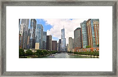 Chicago Panorama Framed Print by Frozen in Time Fine Art Photography