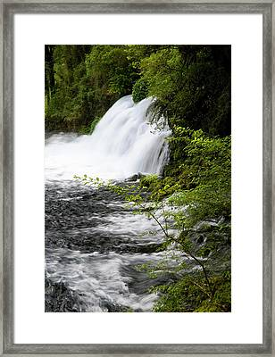 Chile South America Waterfalls At Ojos Framed Print by Scott T. Smith