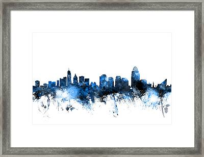 Cincinnati Ohio Skyline Framed Print by Michael Tompsett