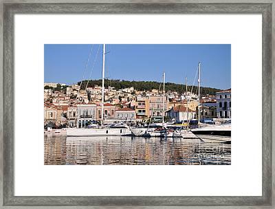 City Of Mytilini Framed Print by George Atsametakis