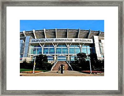 Cleveland Browns Stadium Framed Print by Frozen in Time Fine Art Photography