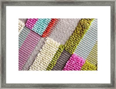 Colorful Cloth Framed Print by Tom Gowanlock