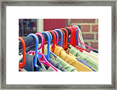 Colorful Tops Framed Print by Tom Gowanlock