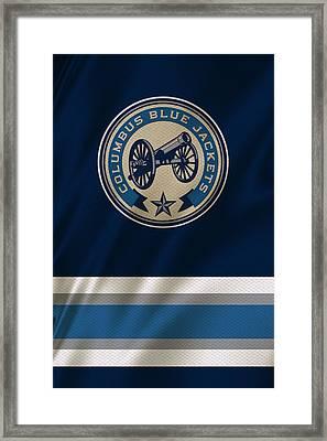 Columbus Blue Jackets Uniform Framed Print by Joe Hamilton