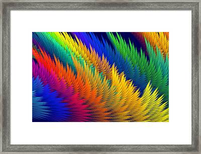 Computer Generated Abstract Fractal Flame Framed Print by Keith Webber Jr