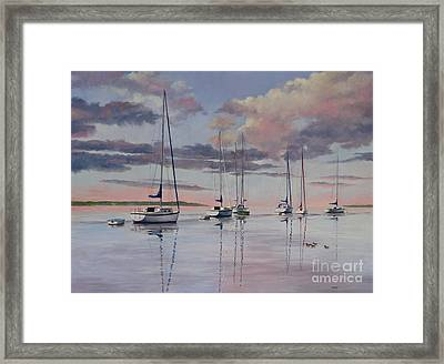 Cuttyhunk Harbor Framed Print by Karol Wyckoff