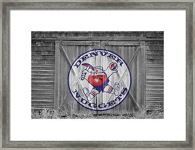 Denver Nuggets Framed Print by Joe Hamilton