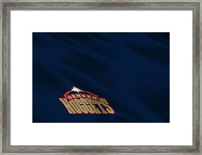 Denver Nuggets Uniform Framed Print by Joe Hamilton