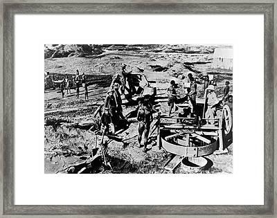 Diamond Mine Framed Print by Patrick Landmann
