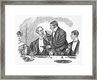 Dining, 19th Century Framed Print by Granger