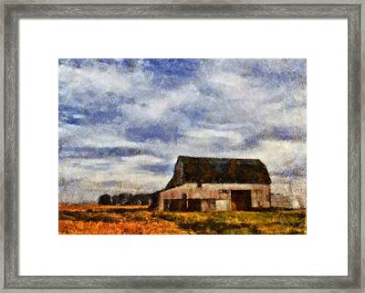 Down On The Farm Ohio Country Scene Framed Print by Dan Sproul