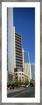 Downtown Buildings Of Phoenix, Maricopa Framed Print by Panoramic Images