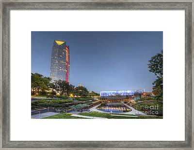 Downtown Oklahoma City Framed Print by Twenty Two North Photography