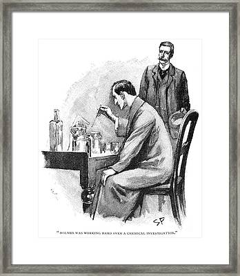 Doyle: Sherlock Holmes Framed Print by Granger