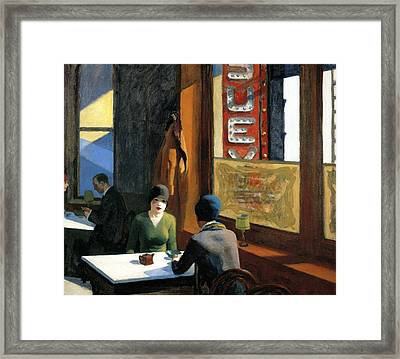 Chop Suey Framed Print by Edward Hopper