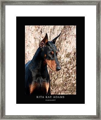 Elegant Framed Print by Rita Kay Adams