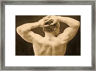 Eugen Sandow Framed Print by George Steckel