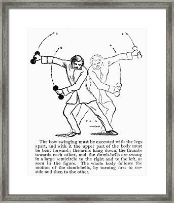 Exercise, 19th Century Framed Print by Granger