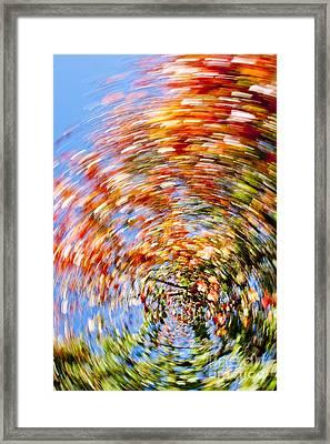 Fall Abstract Framed Print by Steven Ralser