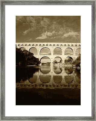 France, Languedoc, Gard, View Of Pont Framed Print by David Barnes
