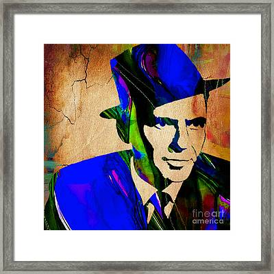 Frank Sinatra Painting Framed Print by Marvin Blaine
