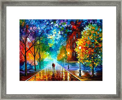 Freshness Of Cold Framed Print by Leonid Afremov