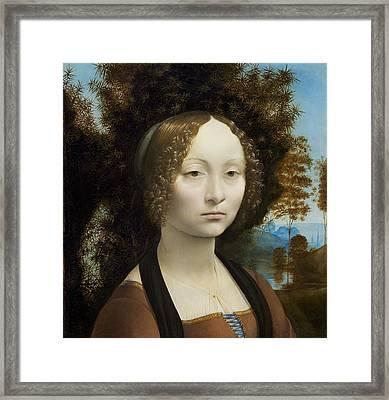 Ginevra De' Benci Framed Print by Leonardo Da Vinci