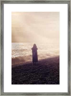 Girl On Beach Framed Print by Joana Kruse