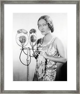 Gloria Swanson Framed Print by Silver Screen