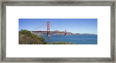Golden Gate Bridge Framed Print by Melanie Viola