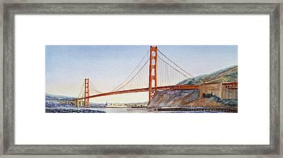 Golden Gate Bridge San Francisco Framed Print by Irina Sztukowski