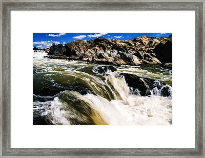 Great Falls Of The Potomac River Framed Print by Thomas R Fletcher