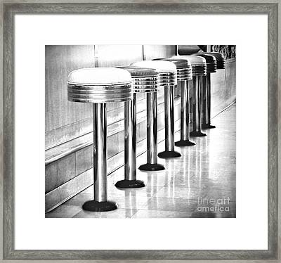 Have A Seat Framed Print by Peggy Hughes