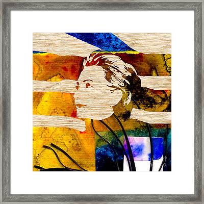 Hillary Clinton Framed Print by Marvin Blaine