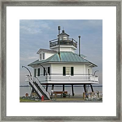 Hooper Straight Lighthouse Framed Print by Skip Willits