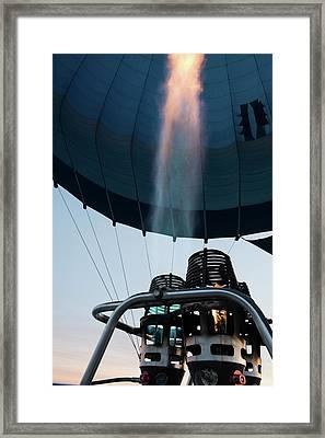 Hot Air Balloon Gas Burner Framed Print by Photostock-israel