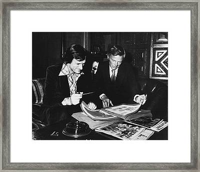 Hugh Hefner Framed Print by Retro Images Archive