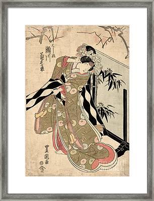 Japan: Tale Of Genji Framed Print by Granger