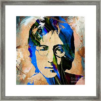 John Lennon Painting Framed Print by Marvin Blaine