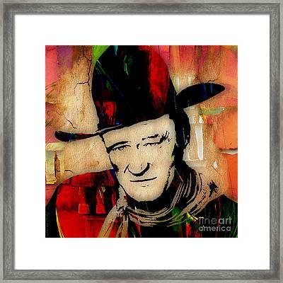 John Wayne Collection Framed Print by Marvin Blaine