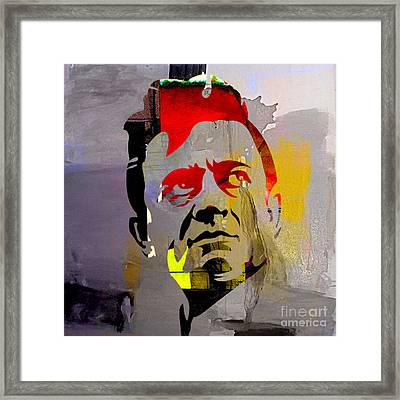 Johnny Cash Framed Print by Marvin Blaine