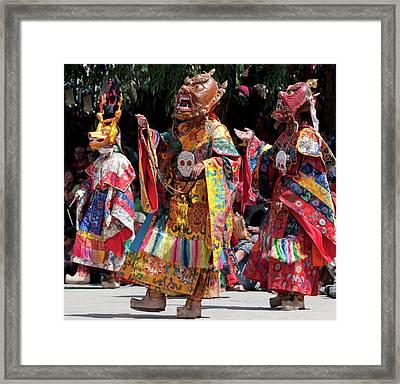 Ladakh, India The Ceremonial Masked Framed Print by Jaina Mishra