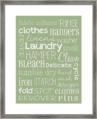 Laundry Room Framed Print by Jaime Friedman