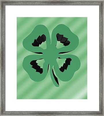 4 Leaf Clover  Framed Print by Kate Farrant