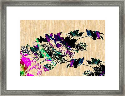 Leaves Painting Framed Print by Marvin Blaine