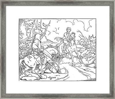 Legend Of Sleepy Hollow Framed Print by Granger