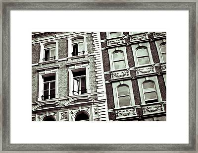 London Architecture Framed Print by Tom Gowanlock